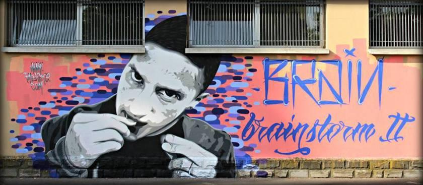 Brain FNO - Nome e Cognome murales