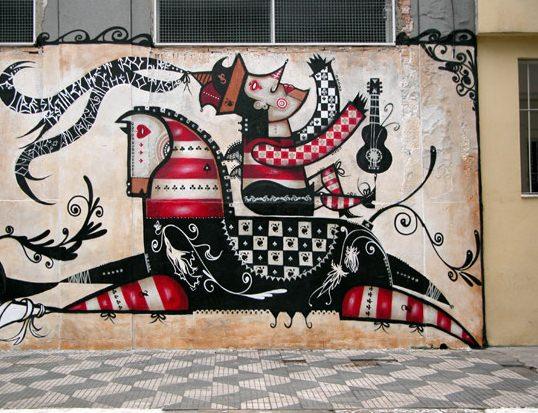 Murales dell'artista brasiliano Vitche